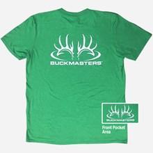 Buckmasters Lime Green Logo Tshirt 1411551179