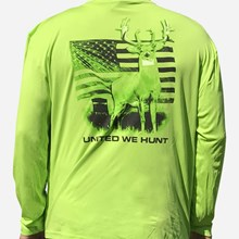 United We Hunt Lime Green LS Tshirt 1411551184