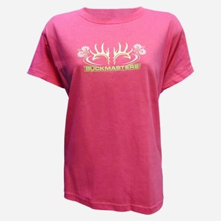 Ladies Pink SS Floral Tshirt 1411551160