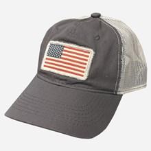 American Flag Gray Mesh Cap 1211551234