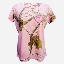 Ladies Buckmasters Realtree Pink Camo Tshirt 1411551162