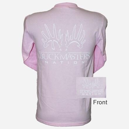 Womens Pink\White LS Tshirt 1411551149