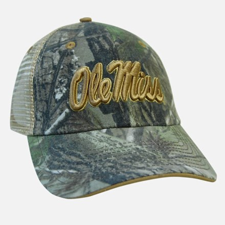 Realtree w/Gold Ole Miss Mesh Hat 1211551191
