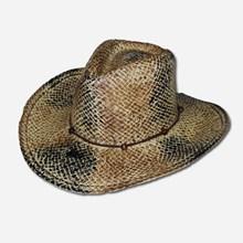 Straw Black & Brown Cowgirl Hat 1216591114