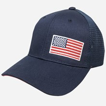 Blue cap with red, white and blue flag (blue mesh) 1211551236
