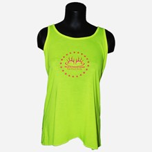 Ladies Neon Yellow & Pink Tank Top 1411551169