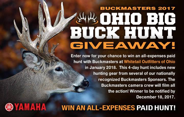 Buckmasters big bucks sweepstakes and giveaways