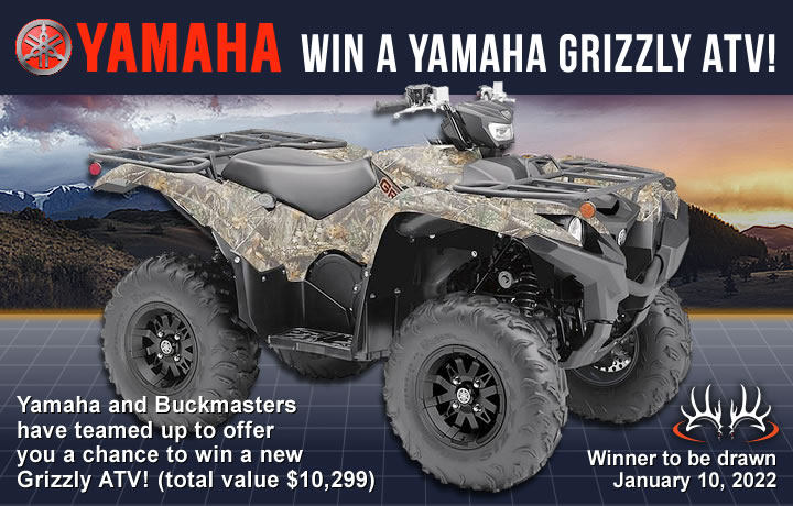 Win a Yamaha Grizzly ATV!